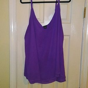 Torrid Purple Double Layer Cami. Size 4.